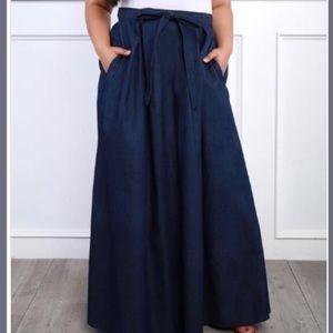 Dresses & Skirts - Denim Maxi Skirt